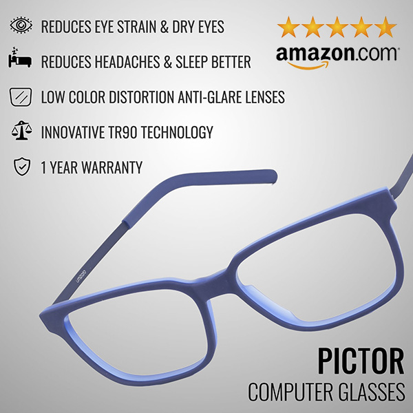 Pictor Computer Glasses Benefits Infographic | Umizato
