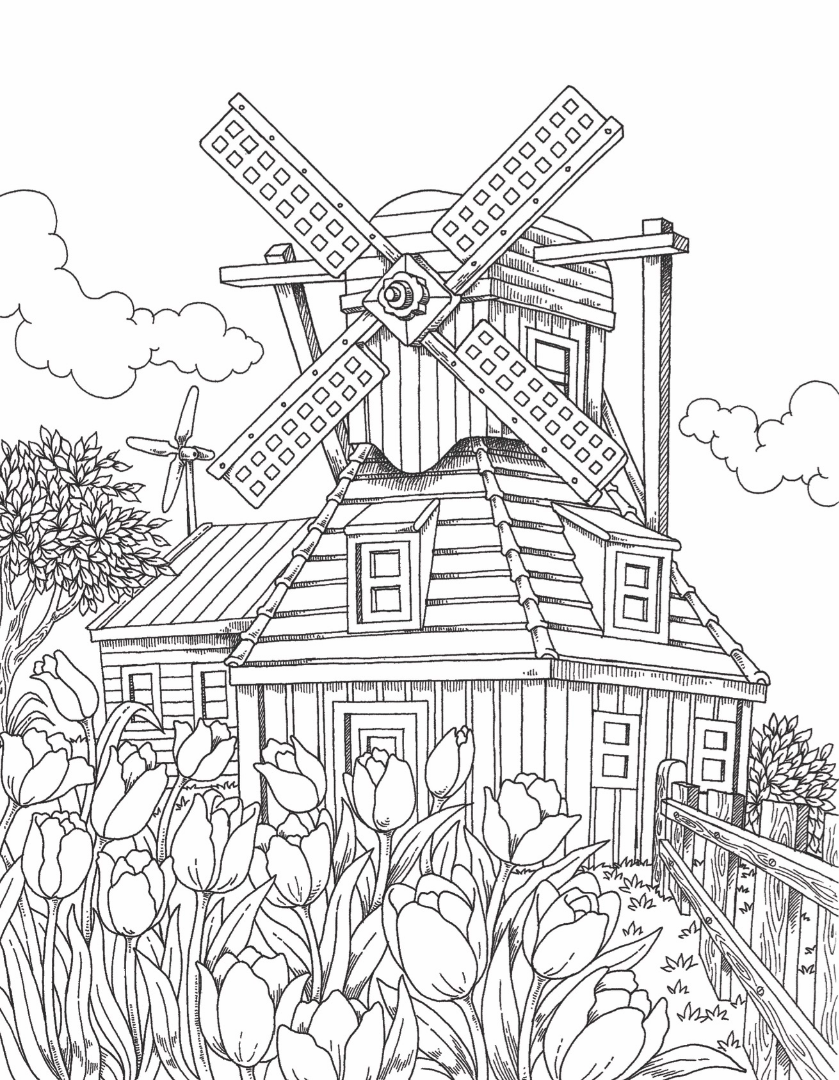 Around the World in 50 Pages - Windmill