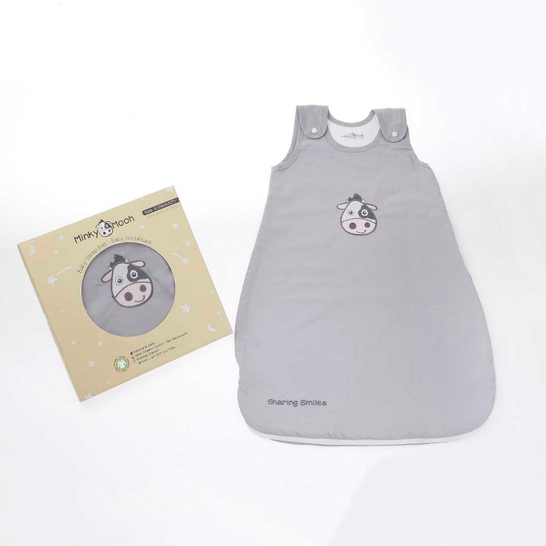 L baby schlafsack tog 1.0 gots bio baumwolle sommer strampelsack kbA geschenkverpackung