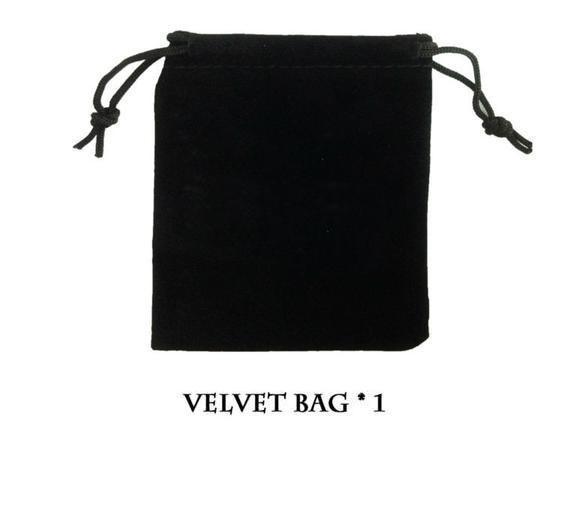 (Included) Black Velvet Bag