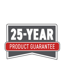We offer a 25 year product quality assurance guarantee.