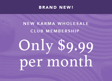 Brand new Karma Wholesale Club Membership only $9.99 per month