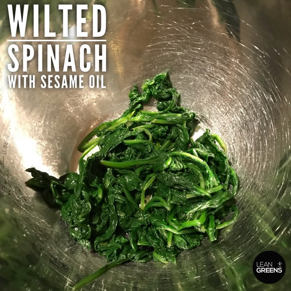 Spinach with sesame oil