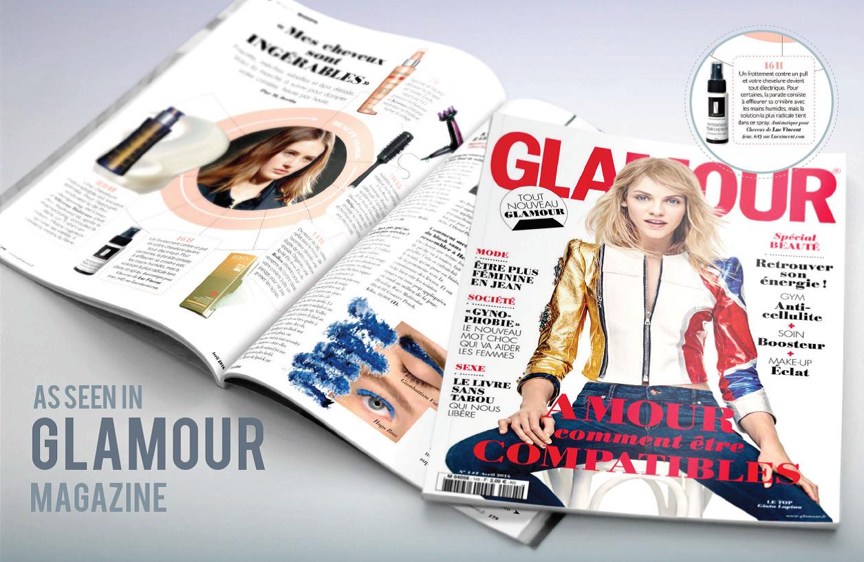 L'ANTISTATIQUE Luc Vincent mentionné dans le magazine Glamour France