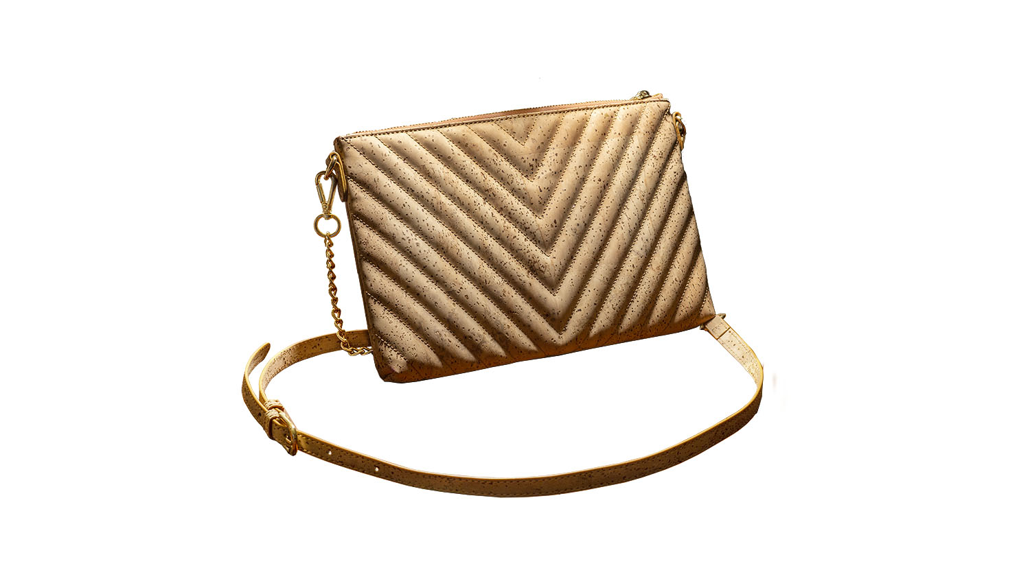Quincy Quilted Cork Clutch