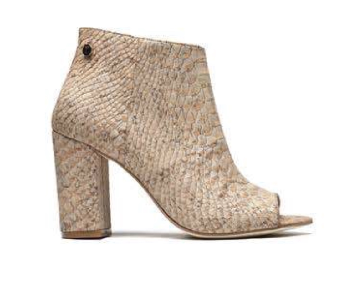 Open Toe Cork Ankle Boot