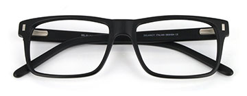 matt black rectangle glasses