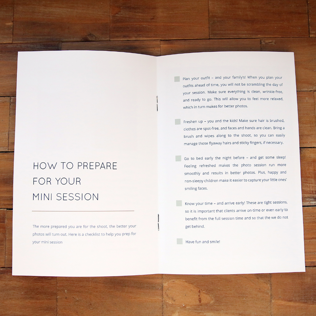 How to Prepare for Your Mini Session Pre-Written Text