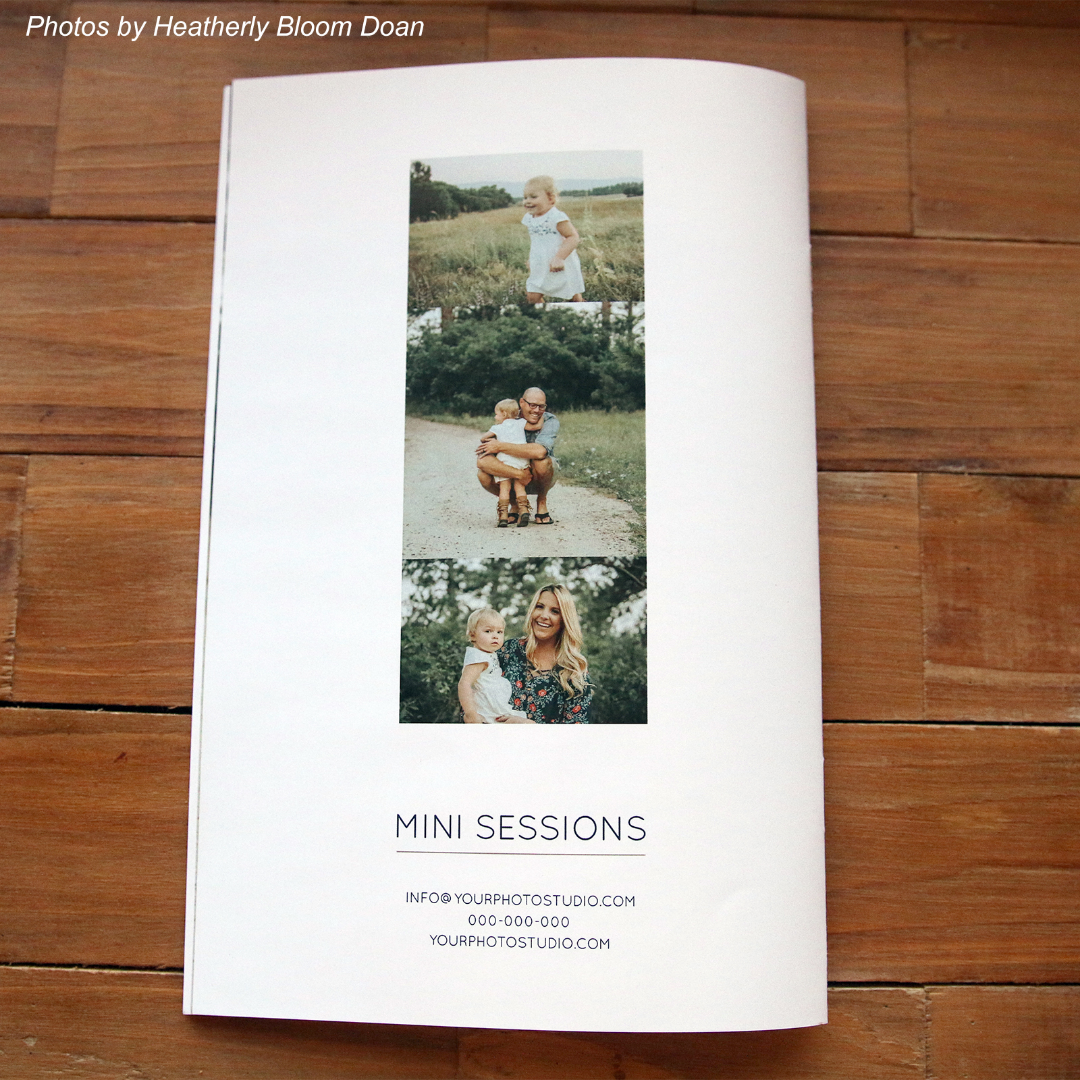 Mini Session Photography Marketing Template Back Cover