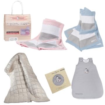 Baby Strickdecke Bio Baumwolle kbA GOTS Kuscheldecke Erstlingsdecke Minky Mooh weich premium 100x70