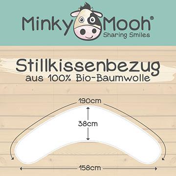 2048 Stillkissenbezug biobaumwolle minky mooh cover kba 190 38 40 gots naturbelassen ungebleicht