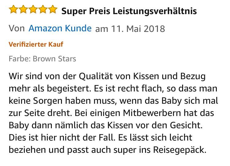 Babykissen gegen Plattkopf flachkopf Plagiozephalie aus bio baumwolle memory foam kern mit 2 waschbaren bezüge review