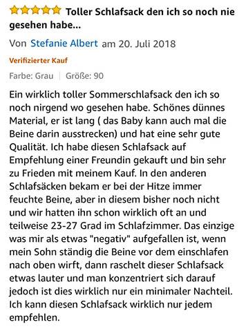 Sommerbabyschlafsack aus 100% Bio-Baumwolle von Minky Mooh - Strampelsack