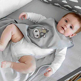 L baby schlafsack tog 1.0 gots bio baumwolle sommer strampelsack kbA wickeln