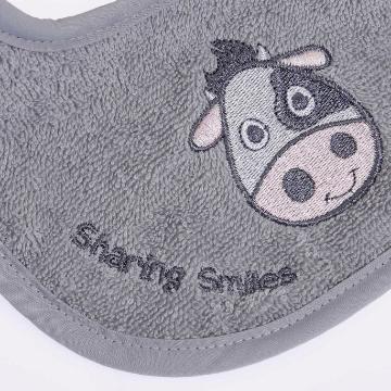 Baby Lätzchen bib bio baumwolle organic GOTS kBA Schlabberlatz kuh stickerei saugstark stickerei