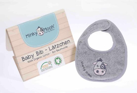 Baby Lätzchen bib bio baumwolle organic GOTS kBA Schlabberlatz kuh stickerei saugstark geschenkverpackung party minky mooh geburt copy.jpg