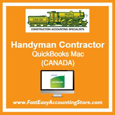 Handyman Contractor QuickBooks Setup Desktop Template Canada
