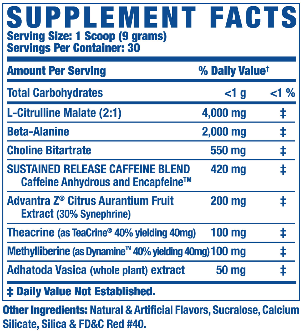 Extended release caffeine ronnie coleman yeah buddy extreme energy pre workout supplement facts