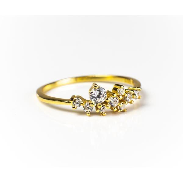 Sasha Sparkle Ring 18K Gold Vermeil/925 Sterling Silver/18K Rose Gold 14K White Gold