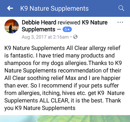 customer testimony for all clear allergy treats