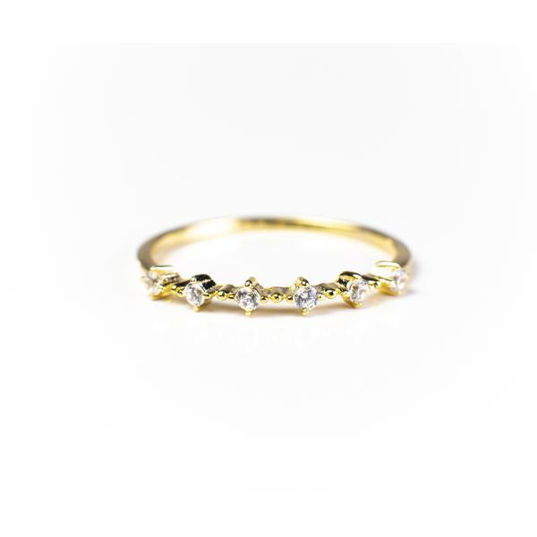 Nicolette Stackable 18K Gold Vermeil Ring