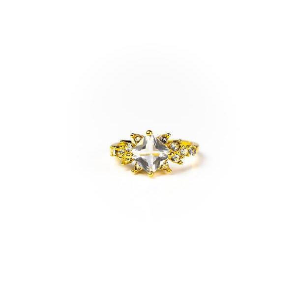 Selena Square Ring 18K Gold Vermeil