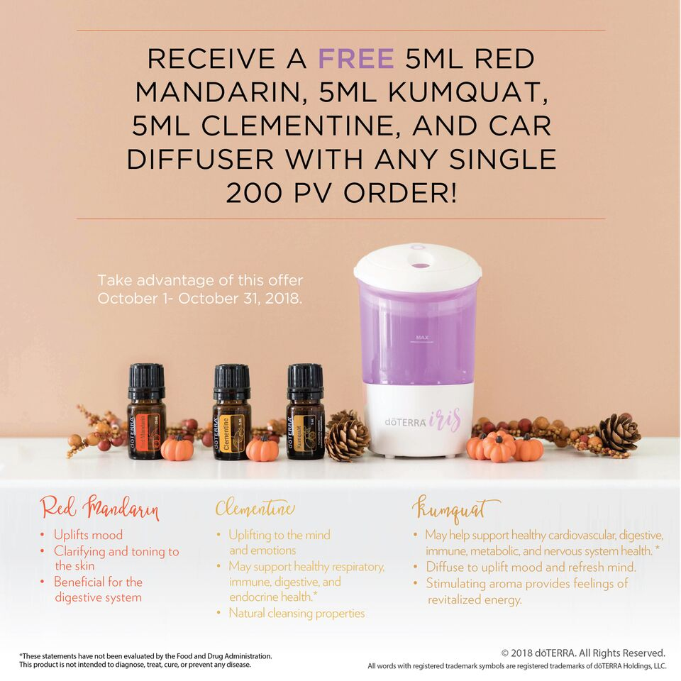 Free Oils and Car Diffuser