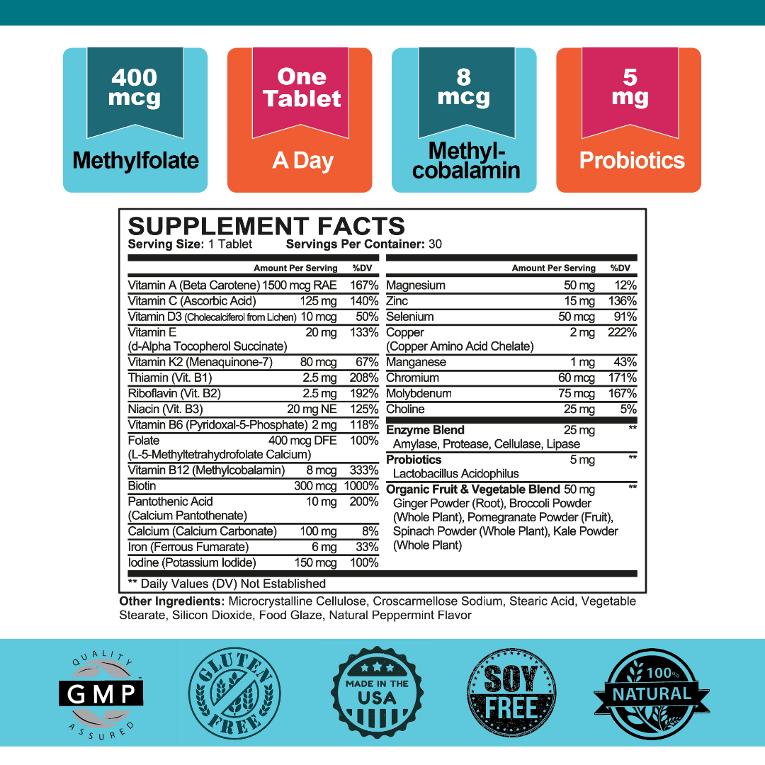 Superhero™ Women's Multi+ Supplement Facts