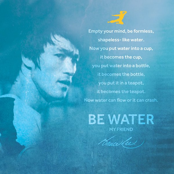 Bruce Lee Be Water Collection