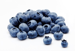 Blueberries In a Superfood Greens Drink