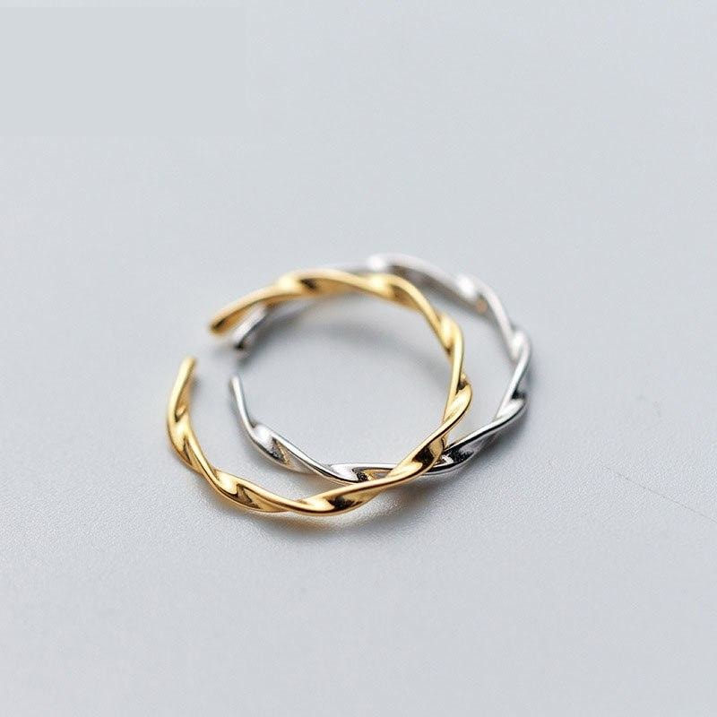 Olivia Twist Ring 925 18K Gold Vermeil/Sterling Silver