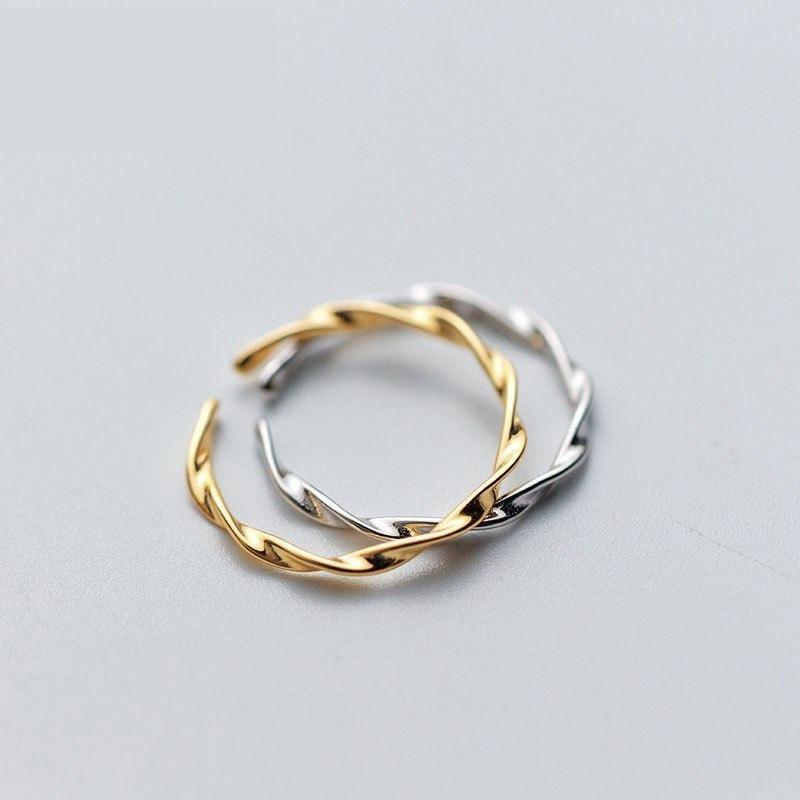 Olivia Twist Ring 925 18K Gold Vermeil/Sterling Silver