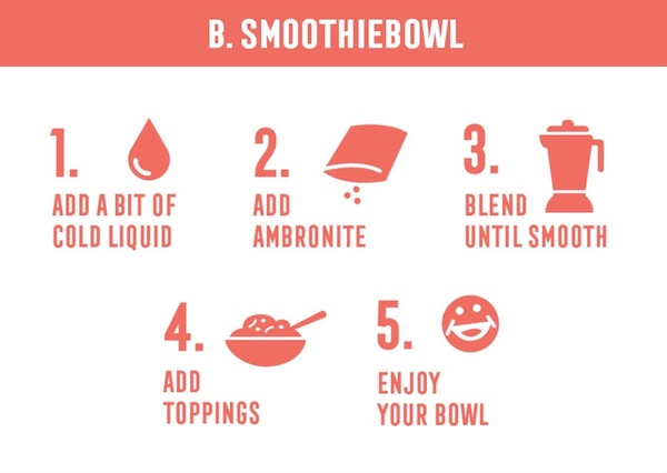 How to prepare Ambronite smoothie bowl