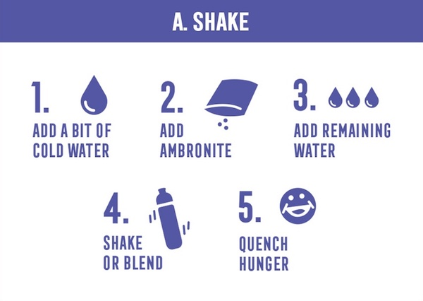 How to prepare Ambronite shake