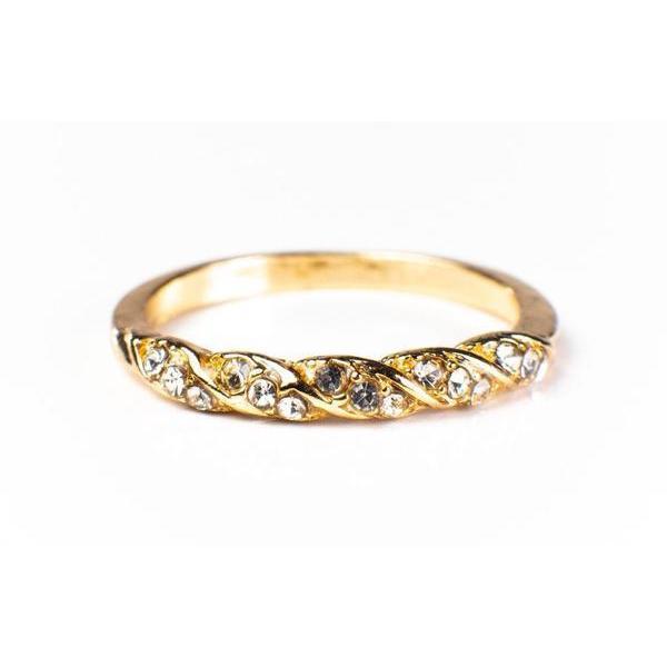 Jessica Simple Twist Ring 18K Gold Vermeil/18K Rose Gold Vermeil/925 Sterling Silver