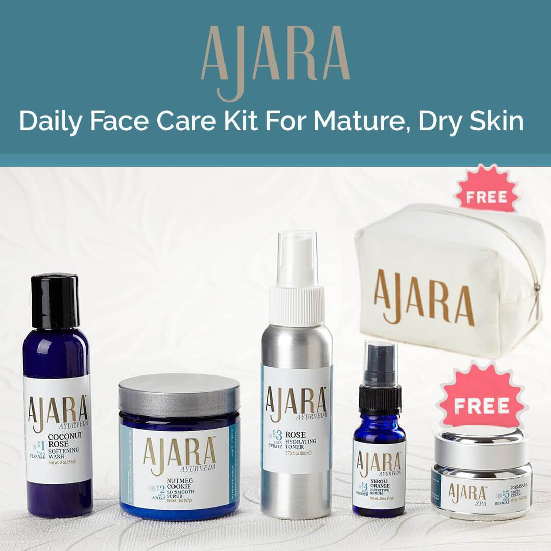 Ajara Daily Face Care Kit for Mature, Dry Skin