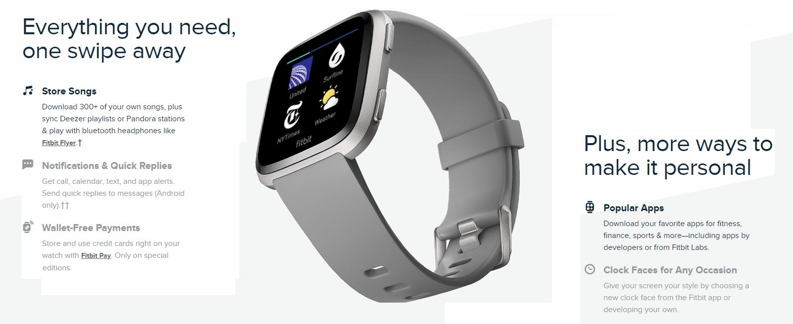 Fitbit Versa Gray