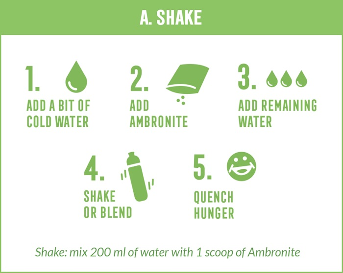 How to make Ambronite shake