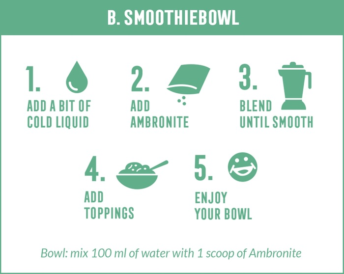 How to make Ambronite smoothie bowl