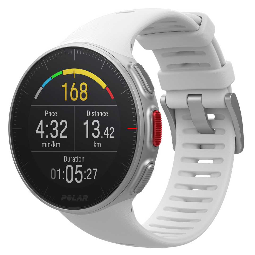 Polar Vantage V White GPS multi Sport training watch