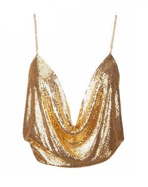 Hiral Chainmail Top Gold