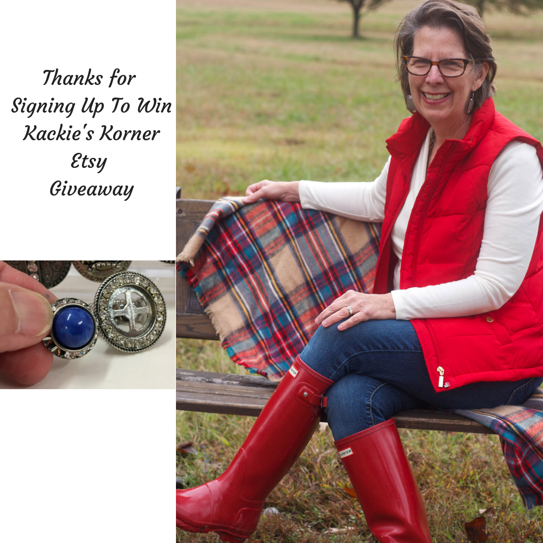Thanks for signing up for chance to win Kackie's Korner Etsy Giveaway