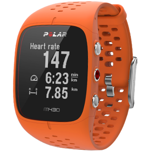 Polar M430 Orange GPS running watch multi sport