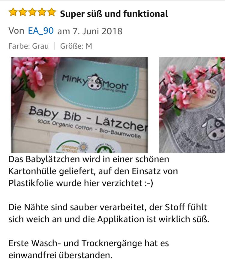 Baby Lätzchen bib bio baumwolle organic GOTS kBA Schlabberlatz kuh stickerei saugstark geschenkverpackung party minky mooh geburt