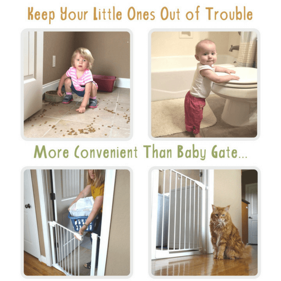 Baby gate with cat door alternative