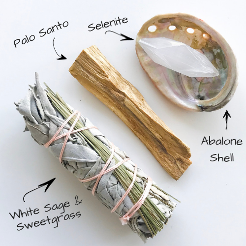 What's Inside Sage And Sweetgrass Cleansing Kit
