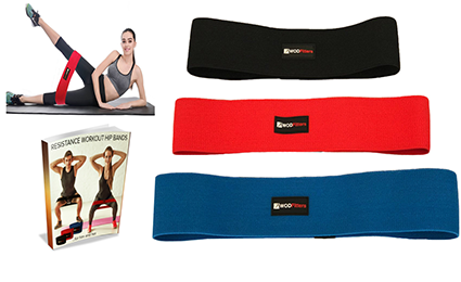 Hip Circle Resistance Band Set - For Glute Activation, Warm Up & Lower Body Workouts