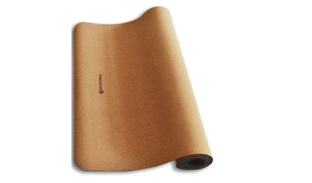 """WODFitters All Natural Eco Friendly Cork and Rubber Workout / Yoga Mat 72"""" x 24"""" - 4 mm"""