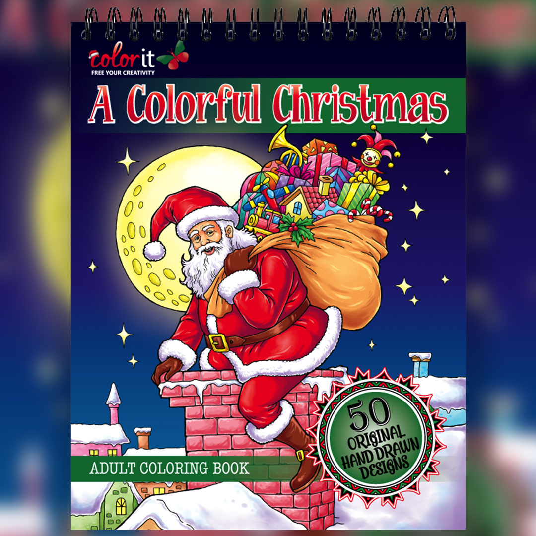 Christmas Coloring Book: Hardback Covers & Artist Paper by ColorIt