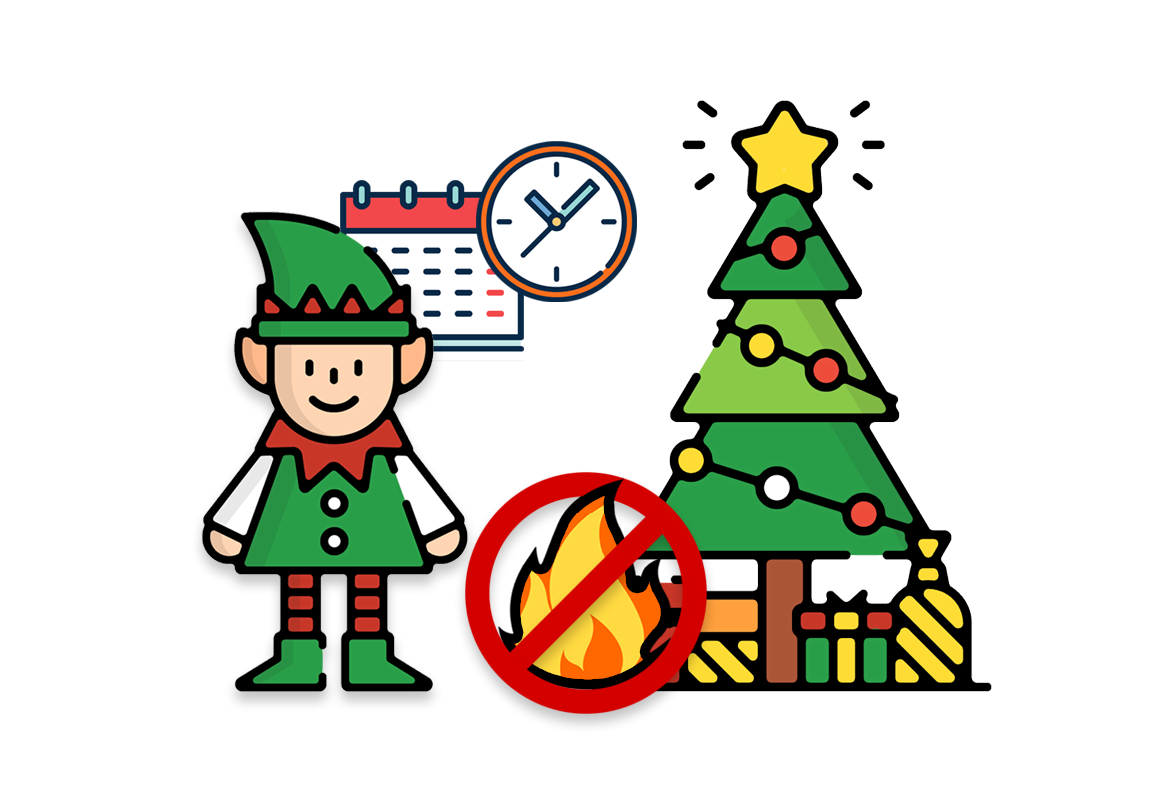 No more worries about dry trees being a fire hazard with Evergreen Elf Christmas Tree Water Alarm